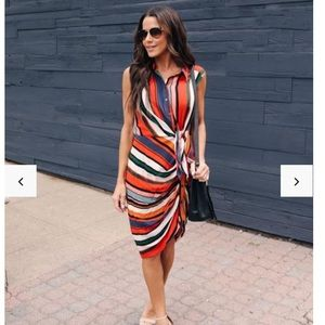 Striped Tie Dress